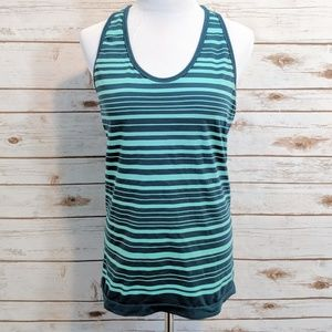 Teal and Mint Green Athleta Racerback Workout Tank